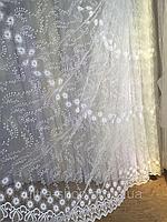 Тюль из фатина с вышивкой, код-1616, фото 1