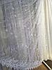 Тюль из фатина с вышивкой, код-1617