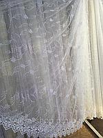 Тюль из фатина с вышивкой, код-1617, фото 1