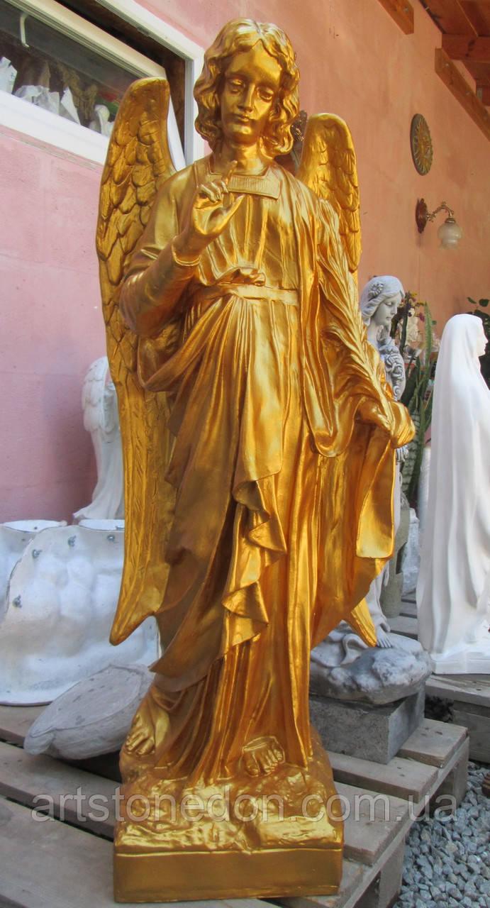 Статуи ангелов. Статуя ангела из полимера 120 см золото