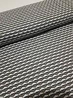 Трикотаж (бело-зеленый узор) ЕТ-035