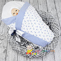 "Конверт-одеяло весна-осень ""Морячок"" синий Medison"
