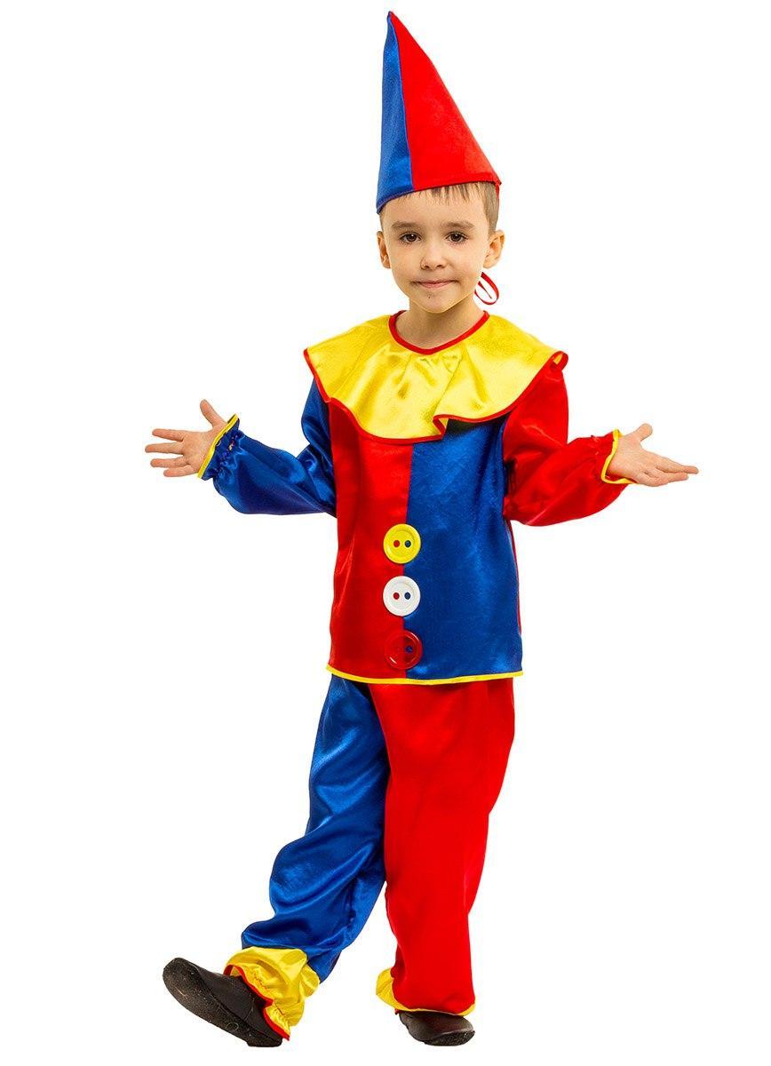 """Детский карнавальный костюм """"Петрушка"""" для мальчика (2 цвета)"""