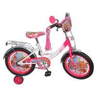 """Двухколесный детский велосипед 12"""" P1252W-B Винкс с боковыми колесами (бело-розовый)"""