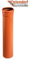 Трубы для наружной канализации Ostendorf KG ПВХ SN4 Ø 110х(3,2мм)х1000