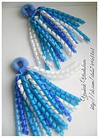 Резинки со спиральками для волос из атласных лент ручной работы