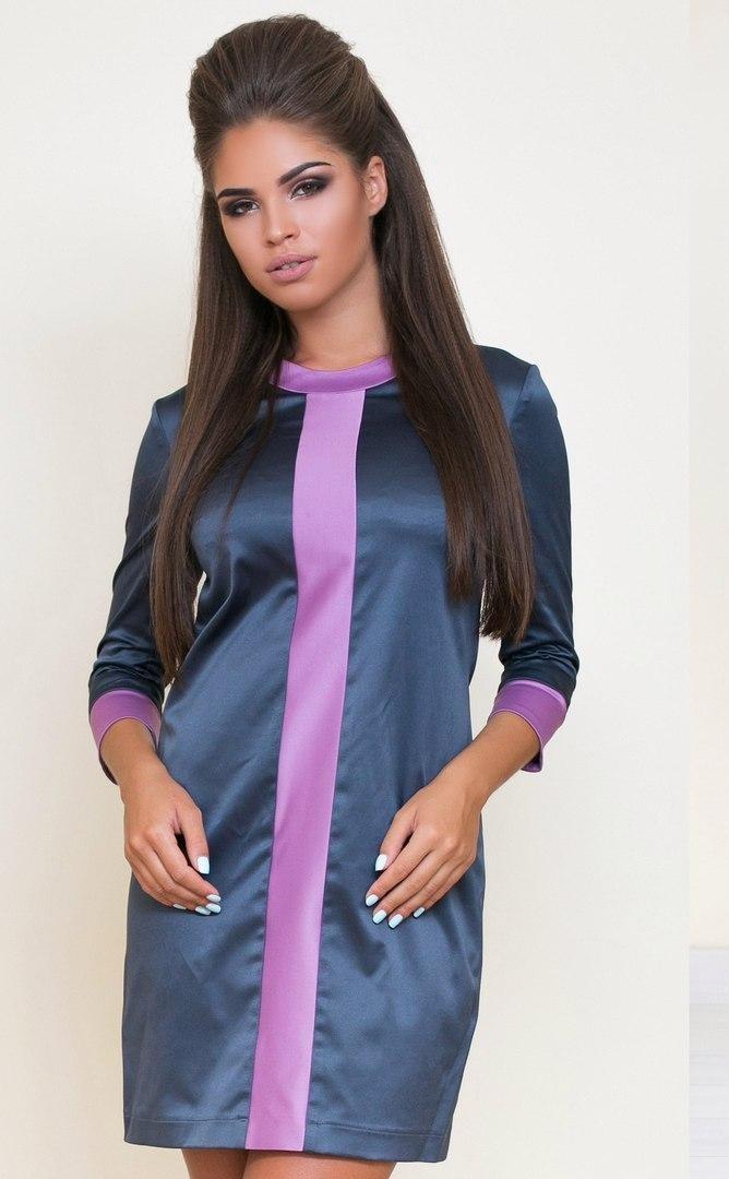 Н6000 Платье атласное со змейкой 42, 44, 46