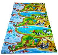 """Детский игровой коврик для ползания ребенка """"Мадагаскар"""" 2000х1200x8мм"""