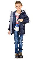Демисезонная подростковая  куртка TRAVELER Лабиринт Синяя