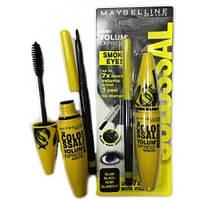 Тушь для ресниц Maybelline Smoky Eyes+карандаш