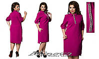 Женское Платье №003 платье повседневное для работы с карманами