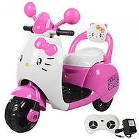 Детский мотоцикл Hello Kitty,на аккумуляторе с пультом р.у M 3563 BR-8