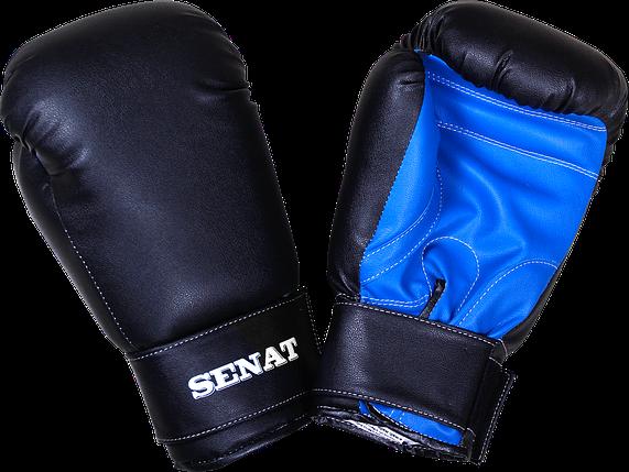 Перчатки боксерские 12 унций, черно-синие, 1512-blk/bl, фото 2