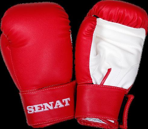 Перчатки боксерские 8 унций, красно-белые, 1550-red/wht, фото 2