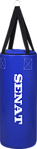 "Боксерская груша ""Бочка"" 70х28, ПВХ, синий,4 подвеса, 1109-bl"