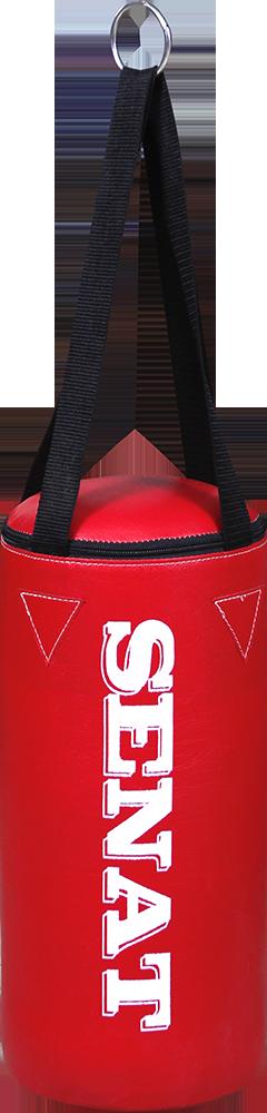 Боксеркий мешок 40х18, кожзам, красный, 4 подвеса, 1277-red