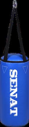 Мешок боксерский 40х18, кожзам, синий, 4 подвеса, 1277-bl, фото 2