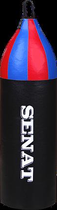 Мешок боксерский шлемовидный 70х21, кожзам, чорный, 1222-blk, фото 2