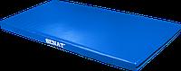 Мат детский гимнастический 1х2, кожзам, синий, 1376-bl