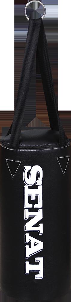 Мешок боксерский 40х18, кожзам, черный, 4 подвеса, 1277-blk