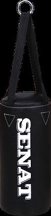 Мешок боксерский 40х18, кожзам, черный, 4 подвеса, 1277-blk, фото 2