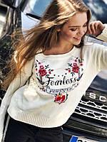 Женский стильный свитер с рисунком (2 цвета)