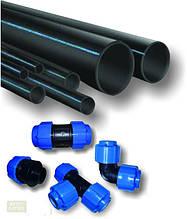 Трубы и комплектующие ПХВ черная