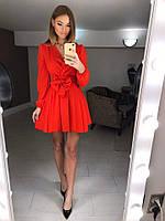 Платье из двойного шифона с юбкой солнце клеш, фото 1