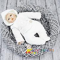 """Утепленный комбинезон на выписку мальчику р.56,62 """" 10203-01/32"""" Garden Baby"""