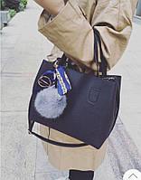 Женская модная сумка+косметичка (3 цвета)
