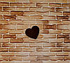 Грифельное сердце. Меловая доска.