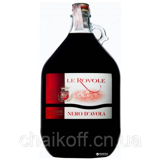 Вино красное Le Rovole Nero D'Avola IGT 5 л (Италия)