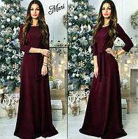 Платье макси с поясом, фото 1