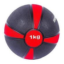 Медбол медичний для тренувань IronMaster 1kg для спортзалу м'яч