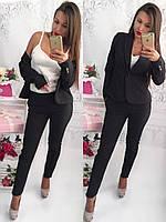 Костюм женский деловой Пиджак и брюки с лампасами Отличное качество