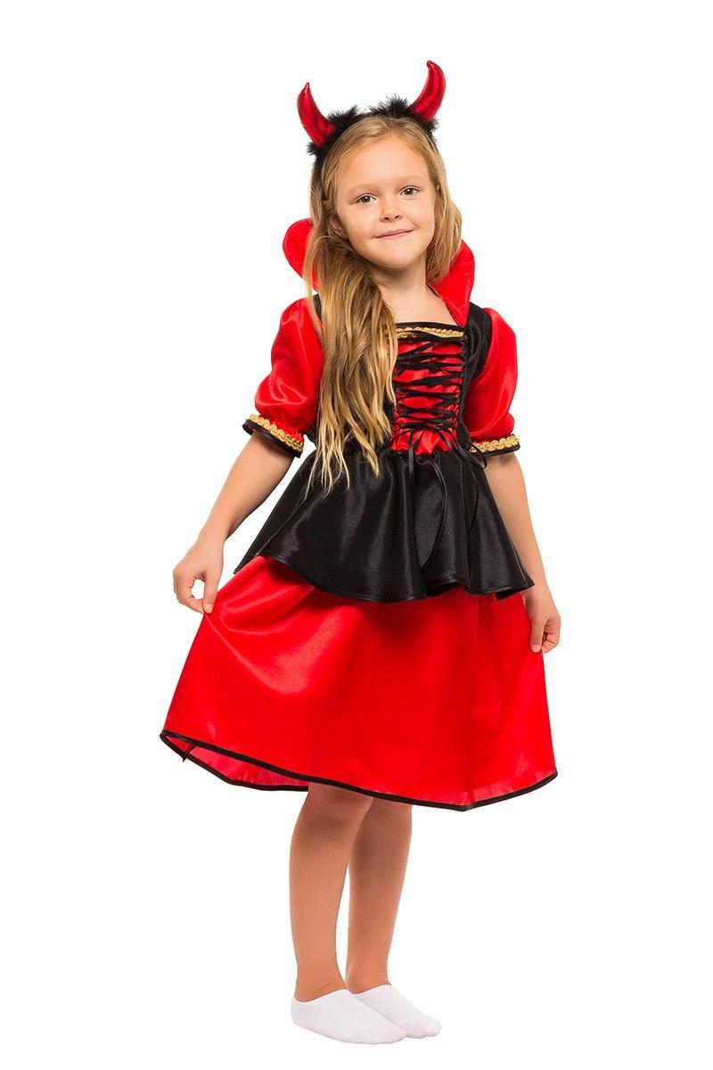 """Детский карнавальный костюм """"Дьяволица-Вампирша"""" для девочки"""