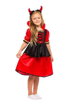 """Детский карнавальный костюм """"Дьяволица-Вампирша"""" для девочки, фото 2"""