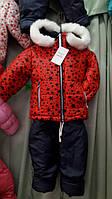 Детский зимний комбинезон на меху для девочки Код дод30