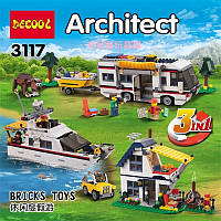 """Конструктор Decool 3117 Architect (аналог Lego Creator 31052) """"Кемпинг 3 в 1"""" 792 дет"""