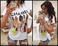 Блуза женская шелк сублимация Chanel
