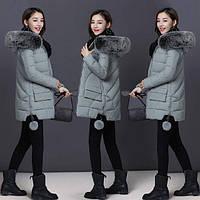 Куртка пуховик с капюшоном молодежная модель пампоны