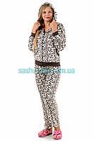 Махровый Домашний костюм леопардовый