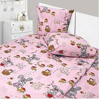 Детское фланелевое постельное белье 147х112