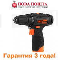 Шуруповерт аккумуляторный Дніпро-М АДЛ-12, 1,5 ампер/час