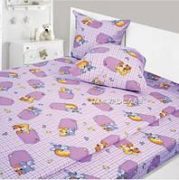 Комплект полуторного постельного белья детский Фланель