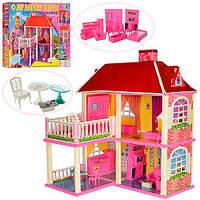 Домик 6980 (6шт) 83,5-70-25,5см,2в1,2этажа,5комнат,мебель,для куклы16см,в кор-ке, 63-48-9,5см
