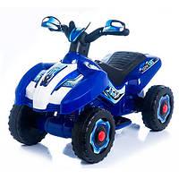 Детский толокар-мотоцикл электрический 2 в 1 M 3559E-4 Bambi, синий