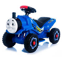 Детский толокар-мотоцикл электрический 2 в 1 «Паровозик Томас» M 3561E-4 Bambi, синий