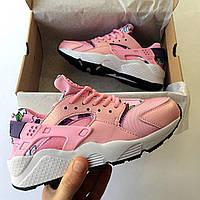 Женские кроссовки Nike Huarache Wmns Print Pink (37, 38, 39, 40 размеры)