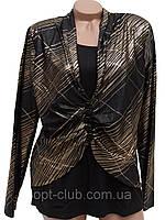 Женские туники-блузки с золотистыми узорами (52-58)